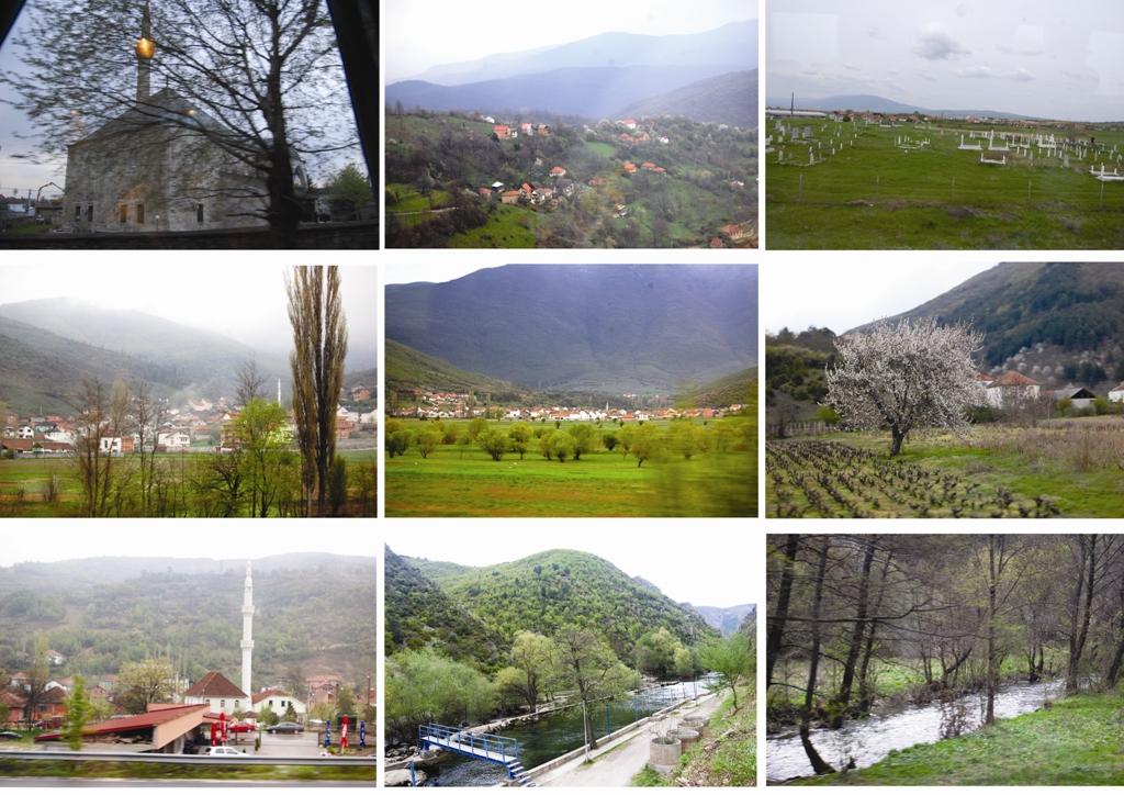 Yol boyu Makedonya manzaraları.