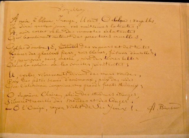 Arthur Rimbaud El-Yazısı