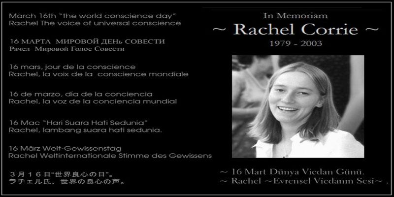 Rachel Corrie adında bir kız geçti bu dünyadan